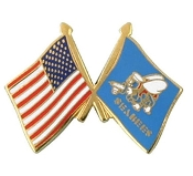 USA and Seabee flag lapel pin